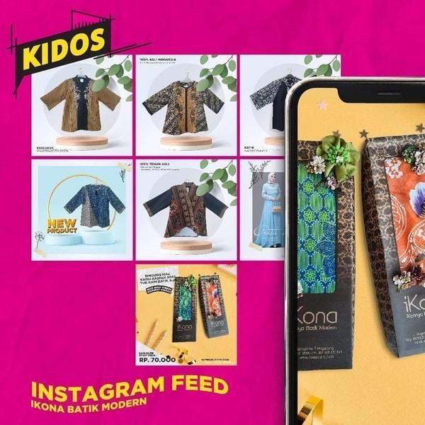 jasa desain feed instagram kidos agency