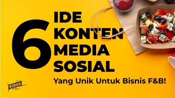 6 Ide Konten Media Sosial yang Unik untuk Bisnis F&B